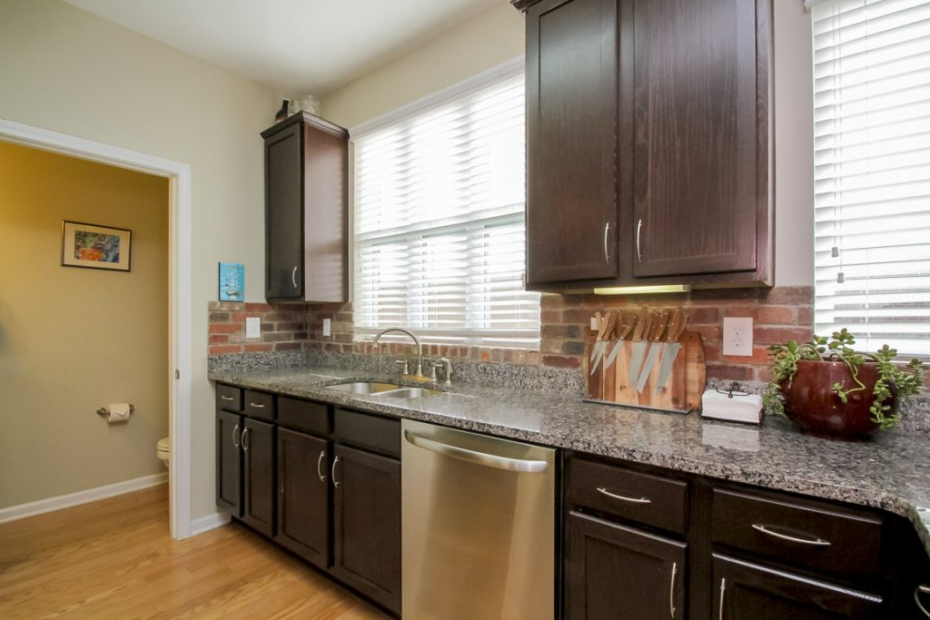 Dark Cabinets and Stainless Appliances